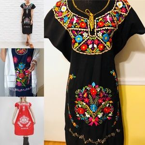 Authentic Mexican embroidered dress NWOT